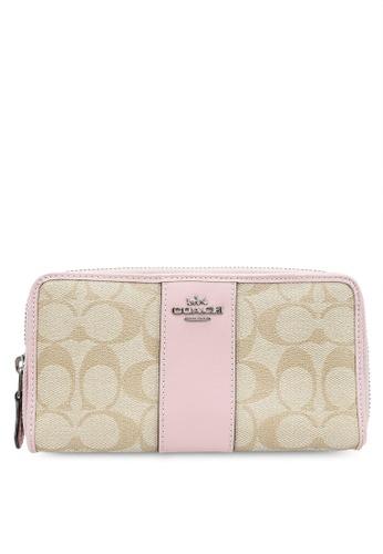 Coach pink Accordion Zip Wallet (cv) EA6D2AC69A4980GS_1