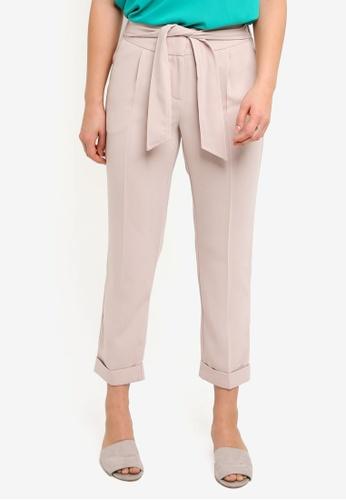Dorothy Perkins white Stone Elastic Tie Back Trousers 182F7AA3F88069GS_1
