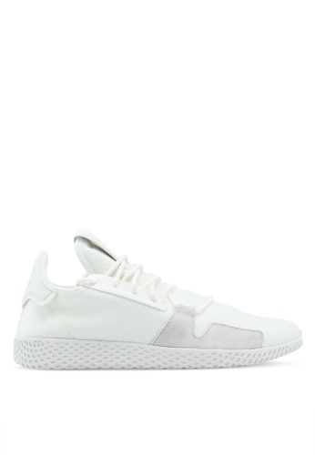 91767730e94bfb adidas white adidas originals pw tennis hu v2 sneakers 71AAESHA1A3734GS 1