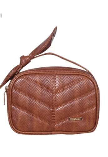 Verchini brown Verchini Top Zip Bow Sling Bag AD548AC1C0BE83GS_1