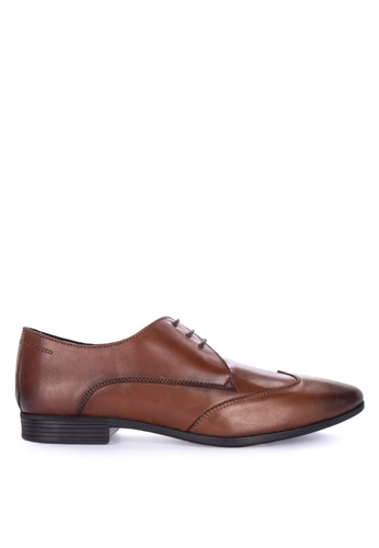 Burton Menswear London brown Borrow Wingcap Shoes 344DBSH85CFA0AGS_1