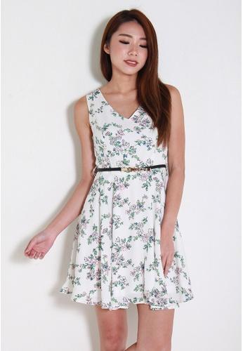 Leline Style white Lya Floral Dress LE802AA0F2ZPSG_1