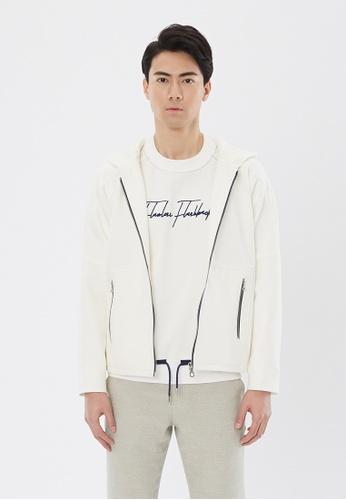 Flawless Flashbacks. white White Hooded Jacket 87963AAD0C1326GS_1
