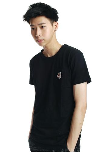 Praise black Pocket T-shirt PR067AA64YQHSG_1