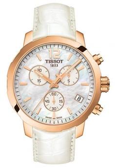 harga TISSOT Quickster Chronograph Jam Tangan Unisex T0954173611700 - Leather - White Zalora.co.id