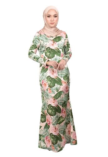 FATIMÉ white and pink and green Dress Hawaiian (Green) 1FDEFAA22F796AGS_1