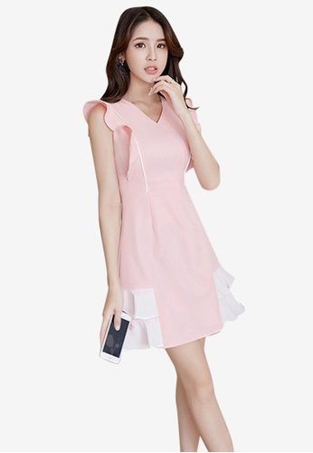 Sunnydaysweety pink Slim Sleeveless One Piece Dress C7137AA50E00F6GS_1