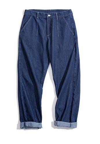 Twenty Eight Shoes blue VANSA  Japanese Washed Straight Leg Jeans  VCM-P2007080 01F67AA5BF49F7GS_1