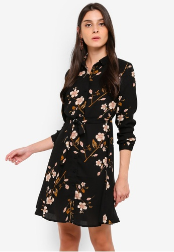 Vero Moda black Callie Shirt Dress 45EBEAA077A96FGS_1