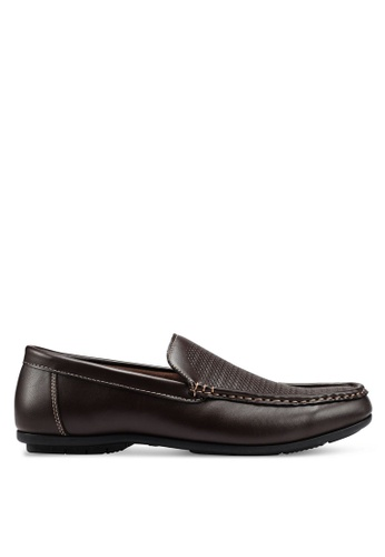 Bata brown Faux Leather Moccasins ED247SHD9166C3GS_1