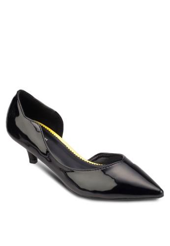 Hazelesprit tw  側鏤空尖頭低跟鞋, 女鞋, 厚底高跟鞋
