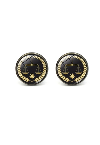 Kings Collection black Justice Libra Cufflinks (KC20319) 305FEACCE0BB41GS_1