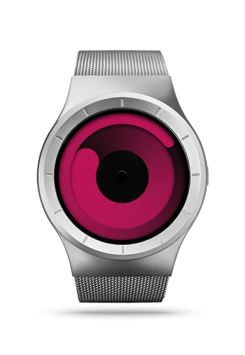 ZIIIRO black and red and silver Mercury Chrome Magenta Watch 6D0B1AC7F6E0F7GS_1