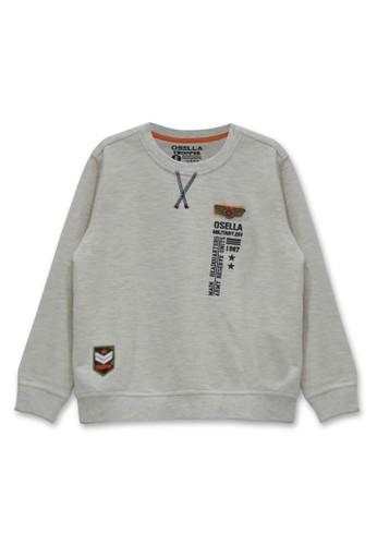 Osella Kids grey Osella Baju anak Laki Laki Sweater Polos Grey 1400DKA5CDF264GS_1