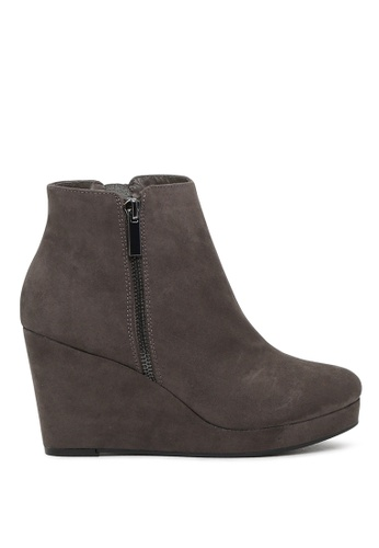 London Rag grey London Rag New Arrival Womens  Wedge Heel Boots SH1552 LO704SH2VPCYHK_1