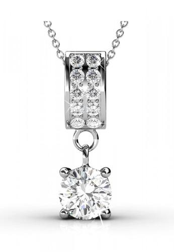 Her Jewellery silver Swarovski® Zirconia -Charming Pendant (18K White Gold Plated) Her Jewellery HE581AC0RCBFMY_1