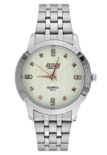 Dooka silver Bosck Men's Round Dial Stainless Steel Wrist Watch 5313 DO079AC30UZXPH_1