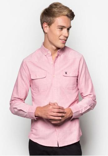 雙口袋長袖襯衫, 服飾, 服esprit outlet 台中飾