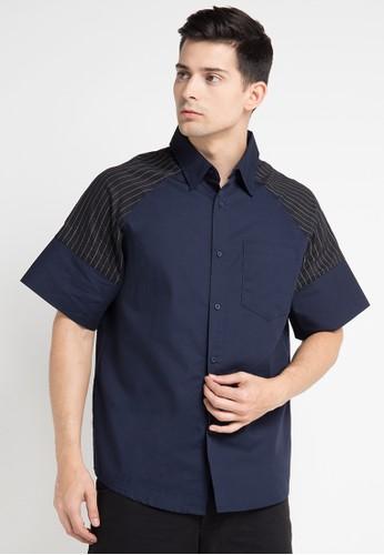 (X) S.M.L navy Lambrecht Shirt XS330AA0WE9HID_1