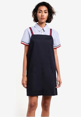 Mango blue and navy Two-Tone Cotton Dress MA193AA0RMJ2MY_1