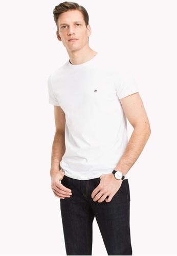 6a3b1d4b Shop Tommy Hilfiger Core Stretch Slim T-Shirt Online on ZALORA Philippines
