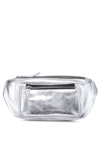 TOPSHOP silver Leather Bumbag 95F7DACEA01A23GS_1