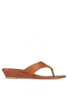 fb0e9c312c5c81 JULIA R brown Lottie Sandal Wedges 42249SH7BEBF0EGS 1