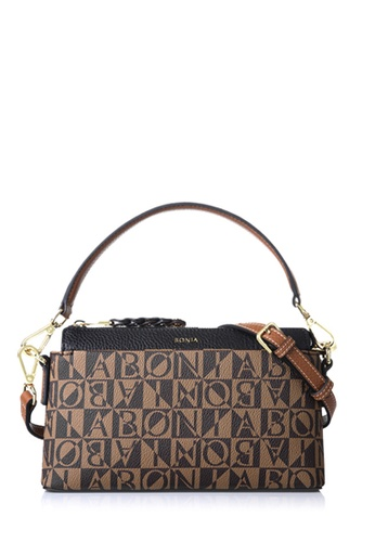 Bonia Black Milagros Shoulder Bag M