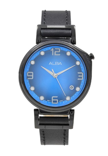 Alba black ALBA Jam Tangan Wanita - Black Blue - Leather Strap - AG8J19 60052AC91461A8GS_1