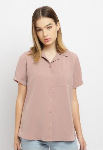 Osella pink Osella Ladies Shirt Short Sleeve Solid Pink 8AA15AA7195A47GS_1