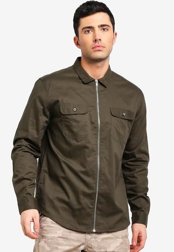 Brave Soul brown Zip Through Shirt 2A8B1AA50297F7GS_1