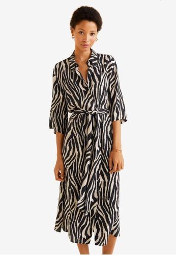 53b8d1dd1c Shop MANGO Animal Print Shirt Dress Online on ZALORA Philippines