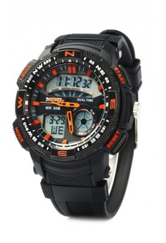 50M Waterproof Double Movement Sports Digital Watch