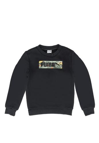 PUMA black Classics Graphics Crew Neck Youth Sweater 901C2KA58BC6A2GS_1