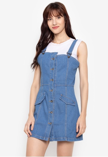 4451c37842 Shop F.101 Denim Jumper Button Down Dress Online on ZALORA Philippines