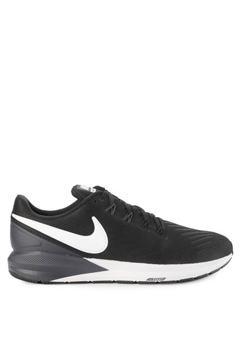 Nike black and multi Nike Air Zoom Structure 22 Shoes 4A6D7SH0ED7331GS_1