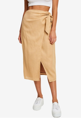 Calli beige Yvette Wrap Skirt 84179AA2AC6E8DGS_1