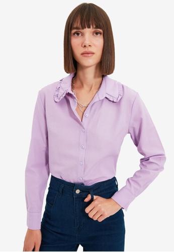 Trendyol purple Lila Shirt 272FFAA6E23F68GS_1