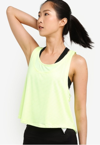 Cotton On Body yellow and green Sheer Scoop Neck Tank Top A11F0AA85764FEGS_1