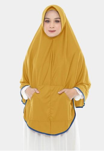 zelena yellow Khimar Instan Saku Bergo Instan Kerudung Syari Jumbo -Sunflower C3353AA272B6A0GS_1
