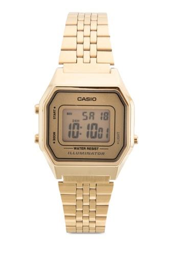 Casio 金色 經典手錶 CA843AC29YQSMY_1