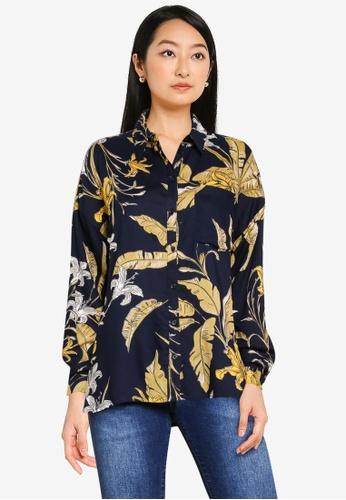 ONLY navy Palm Life Shirt 6010DAA700640BGS_1