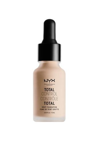 NYX Professional MakeUp brown NYX PROFESSIONAL MAKEUP Total Control Drop Foundation - Porcelain AFC67BEC8B7E43GS_1