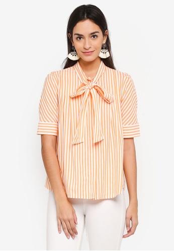 Vero Moda white Nicole 2/4 Tie Shirt 517DAAA3A20CB8GS_1
