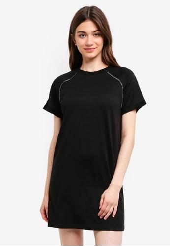 Something Borrowed black Zip Trim Raglan Tee Dress 38D2DAAB0E1A58GS_1