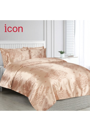 Eurotex Icon Silklux, 950 Thread Count Yarn Dyed Jacquard Comforter Set (includes Comforter, Fitted sheet, 2 Pillow sham and 1 Bolster case) - F009 D912AHLDD5D135GS_1
