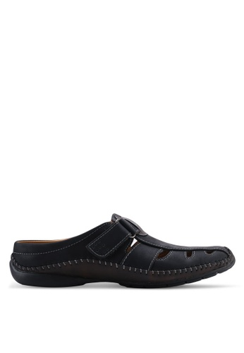 Louis Cuppers black Casual Sandals A7910SHACC522FGS_1