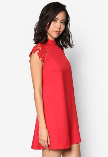 鉤針蕾絲拼肩連身裙, 服飾, esprit outlet 台灣洋裝
