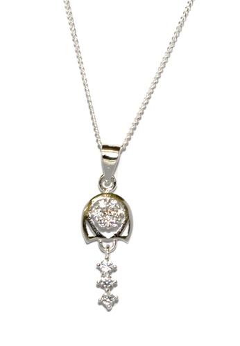 Venice Jewelry silver Venice Georgina Necklace (Silver) VE564AC63GCIPH_1
