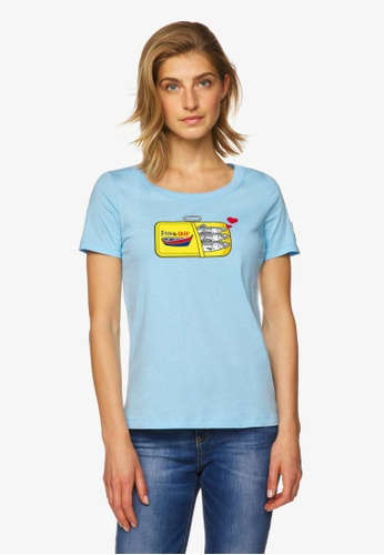 United Colors of Benetton blue Printed T-shirt D1E7AAA1BB1233GS_1